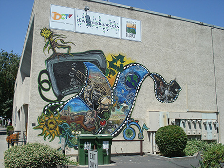 DMA outside wall mural